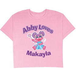Personalized Abby Loves T-Shirt
