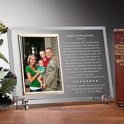 Personalized American Hero Reflections Frame