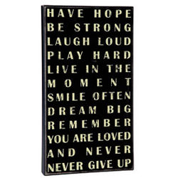 Have Hope, Be Strong Wood Box Sign