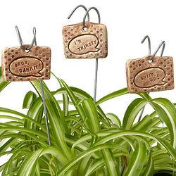 Handmade Clay Garden Markers