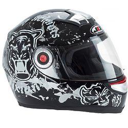 Black Cat Moto Helmet