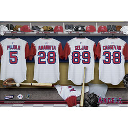 Los Angeles Angels 16x24 Personalized Locker Room Canvas