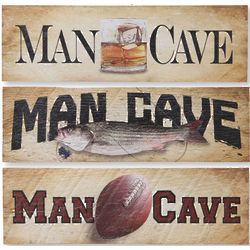 Rugged Man Cave Wooden Wall Hanging