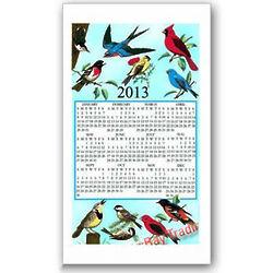 2013 Songbirds Calendar Towel