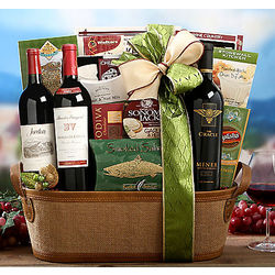 Connoisseur's Wine Collection Gift Basket