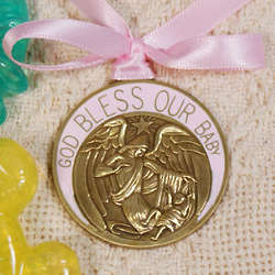 Baby Girl's Guardian Angel Crib Medallion