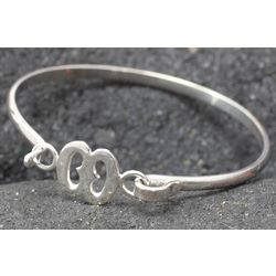 African Hope Sterling Silver Bangle Bracelet