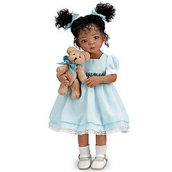 Jada and Teddy Poseable Child Doll