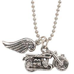 Biker Angel Pendant