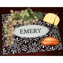 Personalized Name Glass Cutting Board