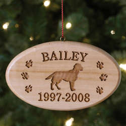 Personalized Pet Breed Memorial Ornament