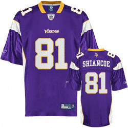 Minnesota Vikings Visanthe Shiancoe #81 Replica Jersey