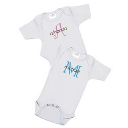 Monogram Baby Name Bodysuit