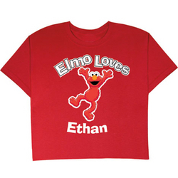 Personalized Elmo Loves T-Shirt