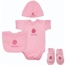 Organic Cotton Baby Girl 4-piece Gift Set