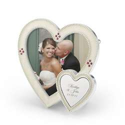 White Heart Picture Frame