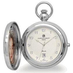Engravable Picture Frame Quartz Pocket Watch
