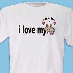 Personalized Love My Cat T-Shirt
