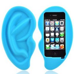 Blue Ear Apple iPhone Soft Gel Skin Case