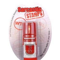 WTF Sarcastic Stamp