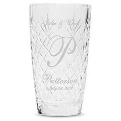 Personalized Initial Crystal Vase