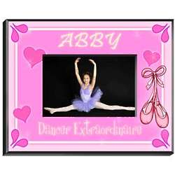 Pretty Pink Personalized Girl's Picture Frame