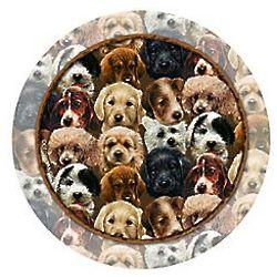 Puppy Collage Sandstone Coaster Set