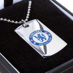 Chelsea Football Club Color Dog Tag with Chain
