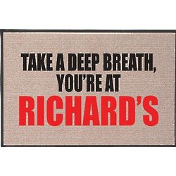 Take a Deep Breath Personalized Door Mat
