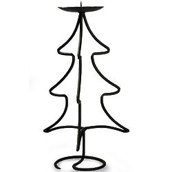 Light of Christmas Tree Shaped Iron Candleholder