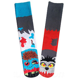 Werewolf Vs. Zombie Socks