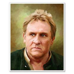 Gerard Depardieu Oil Painting Giclee Print