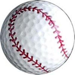 Baseball Design Golf Ball