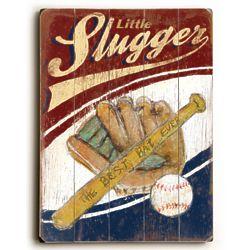 Little Slugger Vintage Wall Sign