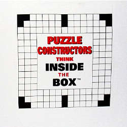 """Puzzle Constructors Think Inside The Box"" Crossword T-Shirt"