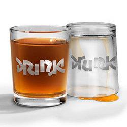 Bottoms Up Drink Drunk Shot Glasses