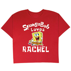 Personalized SpongeBob Loves T-Shirt
