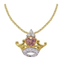 The Little Mermaid 14K Gold Diamond Ariel Tiara Necklace