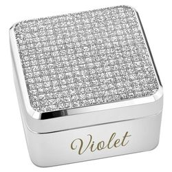 Glitter Glam Silver Keepsake Box