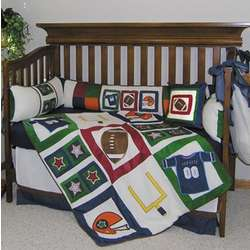 Football Baby Crib Bedding Set