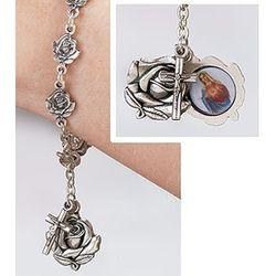 Rose Petal Rosary Bracelet