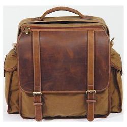 Top Zip Canvas and Leather Backpack