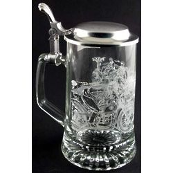 Personalized Motorcycle Glass Stein