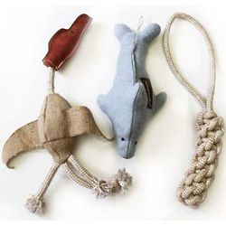 Catch, Fetch and Play Dog Toy Trio