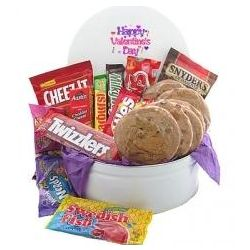 Valentine's Day Snack Tin of Goodies