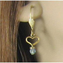 Petite Heart Drop Earrings