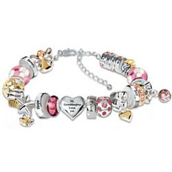 Heartfelt Wishes For My Granddaughter Crystal Charm Bracelet