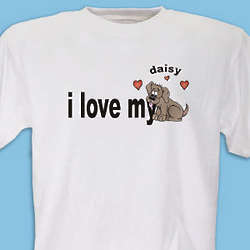 Personalized Love My Dog T-Shirt