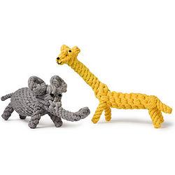 Jerry Giraffe or Coco Elephant Chew Toy