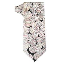 Baseball Signature Tie